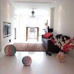 moderne gietvloer in woonkamer